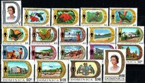 Dominica #268-86 MNH CV $30.30 (X9628)
