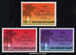 Cocos Islands Scott 200-202 Mint never hinged.