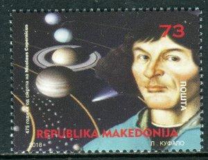273 - MACEDONIA 2018 - Nicolaus Copernicus - MNH Set