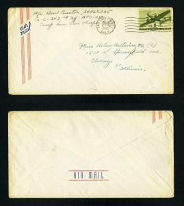 Air Mail Cover from APO 450, Camp San Luis Obispo, California dated 1-18-1945