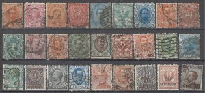 COLLECTION LOT OF # 1732 ITALY 28 STAMPS + 1 PC 1862+ CLEARANCE CV + $48 4 SCAN