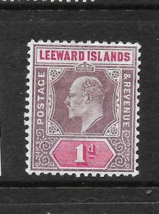 LEEWARD ISLANDS 1902  1d   KEVII    MLH   SG 21