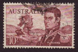 Australia 1964 Sc#377 SG358 10 Shilling Explorer Flinders Used
