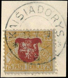 LITUANIE / LITHUANIA - 1919 - KAISIADORYS  cds on Mi.36E on piece