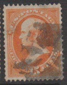 U.S. Scott #152 Webster Stamp - Used Single - IND