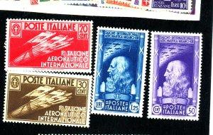 ITALY #345-8 MINT FVF OG LH Cat $208