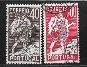 PORTUGAL, 572-573,  USED, GIL VICENTE
