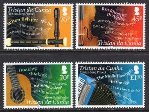 Tristan da Chuna 989-992 Music MNH VF