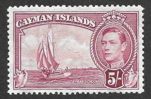 Doyle's_Stamps: Choice Cayman Islands King George VI 5/ Shilling Stamp, #110*