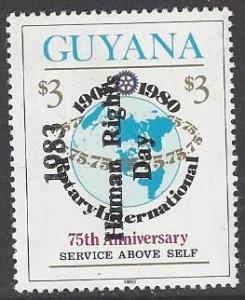 Guyana 724 MNH   Overprinted Human Rights Day 1983