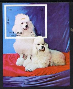 Sharjah MNH S/S Poodles Dogs Mammals 1972