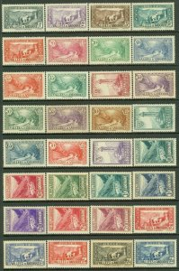 EDW1949SELL : FRENCH ANDORRA 1932-43 Scott #23//64. 38 diff. values MOG Cat $292