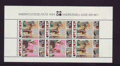 Netherlands Sc B610a 1984 Comic stamp sheet NH