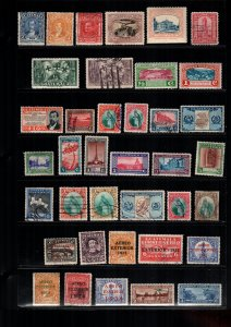 Guatemala  35  diff used and mint cat $ 27.00  lot collection