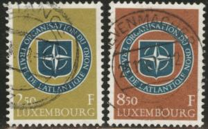 Luxembourg Scott 349-50 Used 1959 NATO stamp set