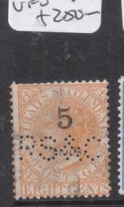 Straits Settlements SG 41 Perfin VFU (4dkg)