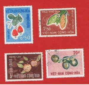 Vietnam #301-304 VF used  Nuts   Free S/H