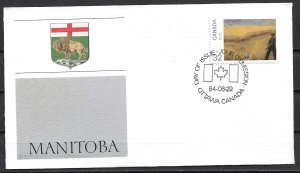 1984 Canada 1020  Canada Day: Manitoba FDC