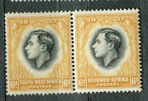 SOUTH WEST AFRICA; 1930s early pictorial issue fine Mint hinged 6d. Pair