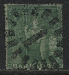 Barbados 1861 (1/2) green used