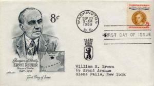 United States, First Day Cover, Germany