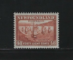 NEWFOUNDLAND - #199 - 48c FISHING FLEET MINT STAMP MLH