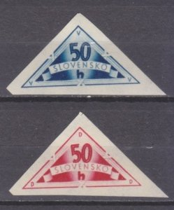 1940 Slovakia 79-80b Delivery signs