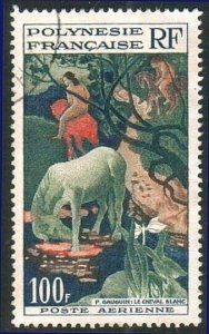 FRENCH POLYNESIA 1958 Gauguin 100f airmail Painting fine used cat £16......10547