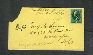 Tennessee 19th Century Cover Rutledge Jan 24 1874 M/S