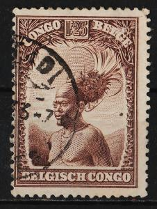 Belgian Congo 1931/39 Various Designs 1.25F (1/18) USED