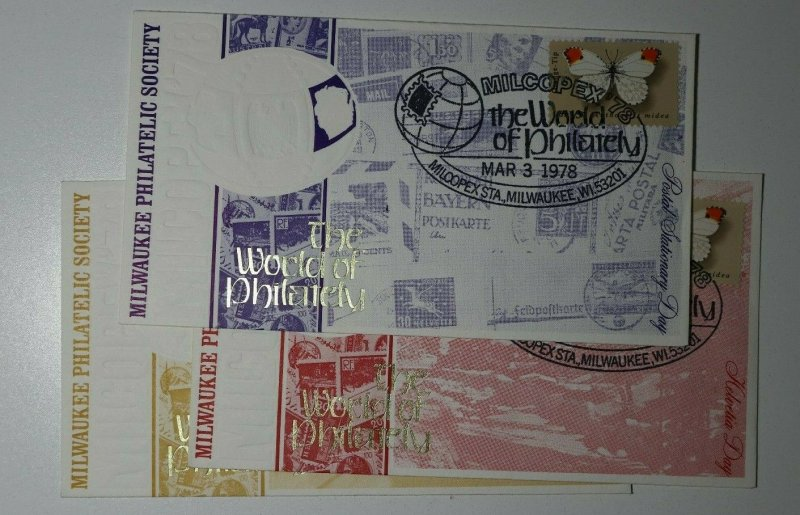 MILCOPEX The World of Philately 1978 Milwaukee WI Postal Stationary Day Cover
