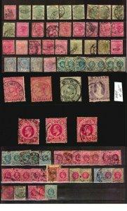 NATAL SOUTH AFRICA stamps lot POSTMARKS CANCELS LOWER TUGELA BLACKWATER BATSTONE