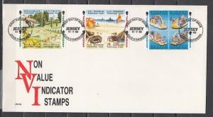Jersey, Scott cat. 614-625. Marine Life, Parades, Views issue. First day cover.^