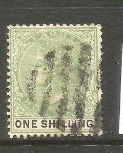 LAGOS  1887-02   1/-   QV  FU  SG 38