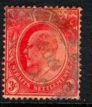 Straits Settlements: 1908; Sc. # 130; O/Used Single Stamp