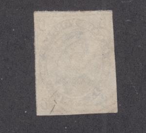 Canada Sc 5 used. 1855 6p slate gray Prince Albert, 21 cancel, Greene Cert.