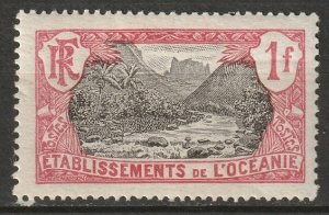 French Polynesia 1913 Sc 49 MH* some disturbed gum