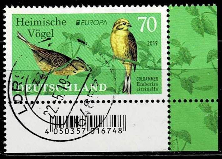 Germany 2019, Michel# 3463 used Bird