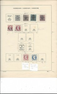 Germany Hanover 1858 to 1864 on Old Album Page Huge Value $$