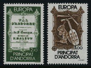 Andorra Fr 337-8 MNH EUROPA, Musical Instruments