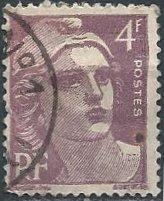France 541A (used, faults) 4fr Marianne, vio (1946)
