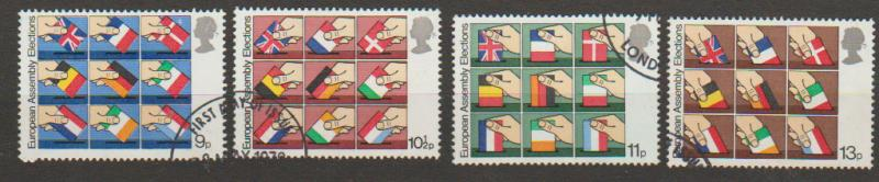 Great Britain SG 1083 - 1086 set Used First Day of Issue cancel
