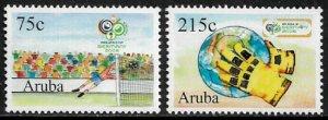 Aruba #285-6 MNH Set - World Cup Soccer