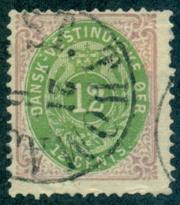Danish West Indies #11  Used  Scott $175.00