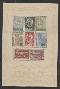 PORTUGAL 1940 CENTENARY MINIATURE SHEET MNH **