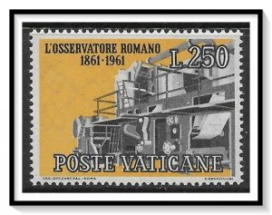 Vatican City #312 Vatican Newspaper MNH