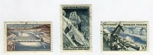 FRANCE; 1956 early Grand Realisations issue fine used SET