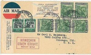 OLYMPICS - FIRST FLIGHTS AIRMAIL: COLOMBIA 1932 - RARE!