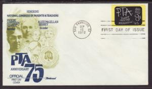US 1463 PTA Fleetwood U/A FDC
