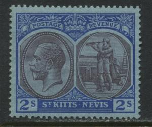 St. Kitts KGV 1920 2/ unmounted mint NH